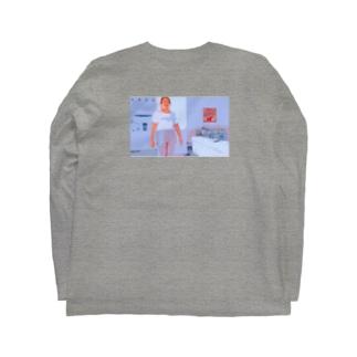 【素のわたし】グッズ出したよ(濃色) Long sleeve T-shirts