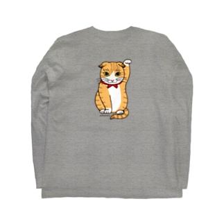 まねき猫ドットちゃん Long sleeve T-shirts