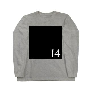 14【白】黒 Long sleeve T-shirts