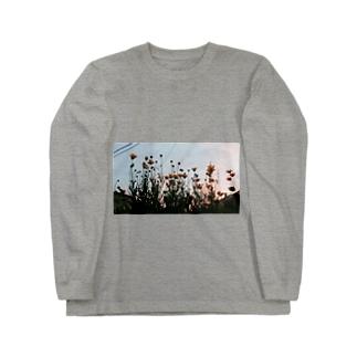 春の夕暮れ時わ Long sleeve T-shirts