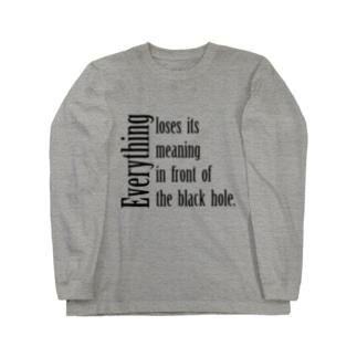 ブラックホール? Long sleeve T-shirts