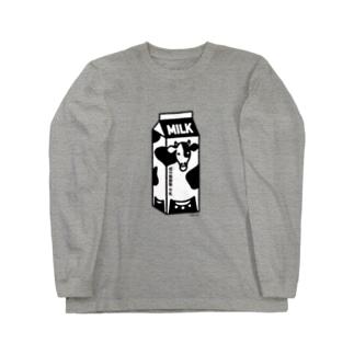 牛乳パック02 Long sleeve T-shirts