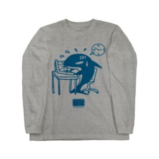 社畜のシャチくん Long sleeve T-shirts