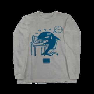 マニアパレルの社畜のシャチくん Long sleeve T-shirts