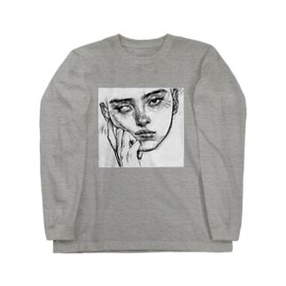 憂鬱女子 Long sleeve T-shirts