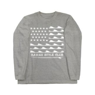 STARS AND NALU  WHT LOGO Long sleeve T-shirts