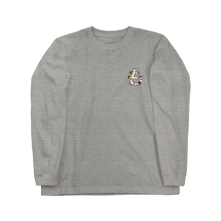 モルモットの『も』 Long sleeve T-shirts