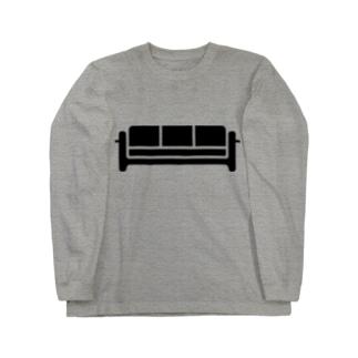 ラウンジのソファ Long sleeve T-shirts