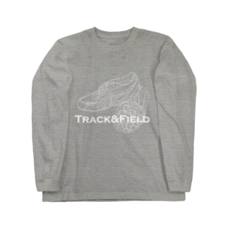 Track&Fierld_White Line.ver Long sleeve T-shirts