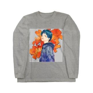 お花とおんなのこ Long sleeve T-shirts