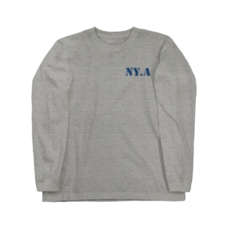 エヌワイドットエー(通称「ニャ」) ・ネイビー Long sleeve T-shirts