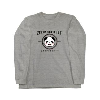 零より出ユニバーシティ(ジパンダ) Long sleeve T-shirts