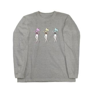 ジムで着たい、BKBな峰不●子うさぎ  Long sleeve T-shirts