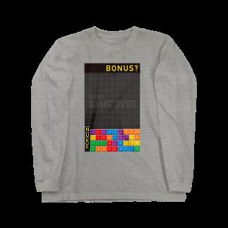 K. and His DesignのNUKE(=原子力)に対するアイロニー Long sleeve T-shirts