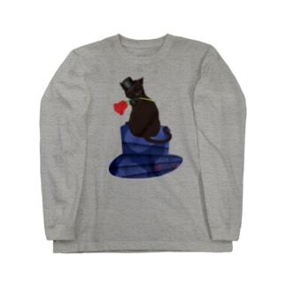薔薇と猫 GENTLEMEN Long sleeve T-shirts
