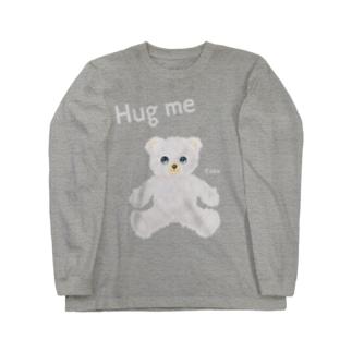 【Hug me】(白くま) Long sleeve T-shirts