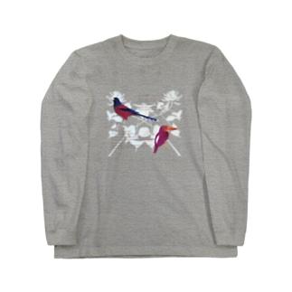 琉球の鮮やかな鳥たち Long sleeve T-shirts