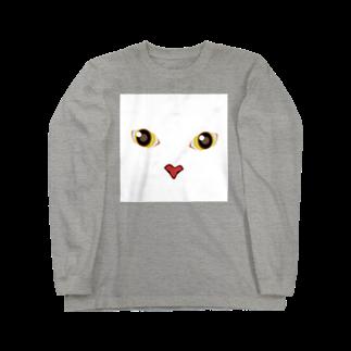 キャッツハンド:suzuriショップのしろしろ Long sleeve T-shirts