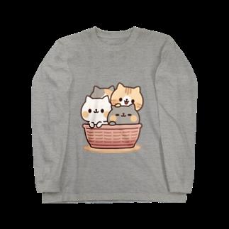 DECORのネコがいっぱい/カゴver. Long sleeve T-shirts