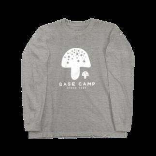 BASE-CAMPのBASE KINOKO 01 WHITE Long sleeve T-shirts