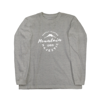 BASE-CAMPのBASE MOUNTAIN 01 WHITE Long sleeve T-shirts