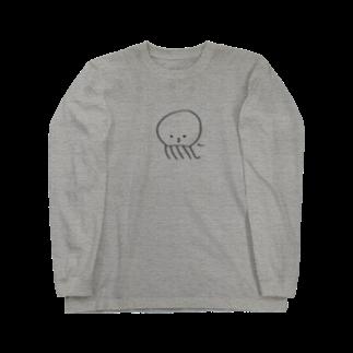 おもち屋さんの「ちぇっ」なクラゲ Long sleeve T-shirts