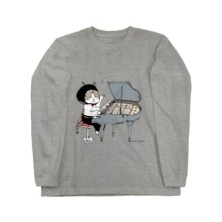 ピアノねこ Long Sleeve T-Shirt
