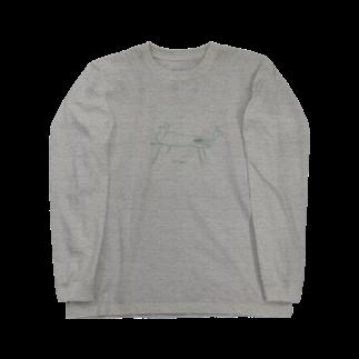 むきむき   地球生活のよっこいしょ Long sleeve T-shirts