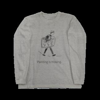 奥のPainting is moving.  Long sleeve T-shirts