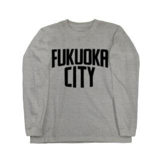 福岡シティTシャツ(ブラックロゴ) Long sleeve T-shirts