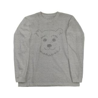 手書きシュナ(グレーver.) Long sleeve T-shirts