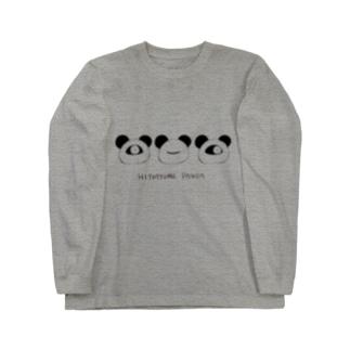 HITOTSUME PANDA(透過) Long sleeve T-shirts