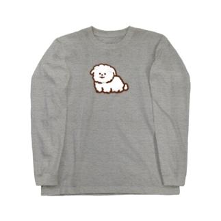ビションフリーゼ Long sleeve T-shirts