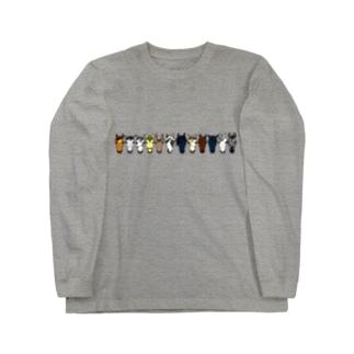 【うまかお】Favorite Horses Long sleeve T-shirts