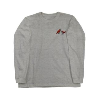 奄美の鳥アカヒゲ Long sleeve T-shirts