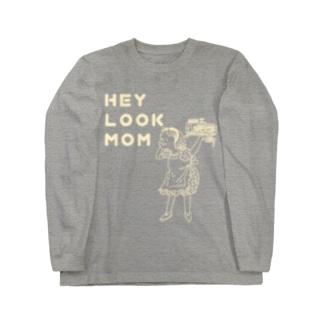 ヘイルックマム(クリーム) Long sleeve T-shirts