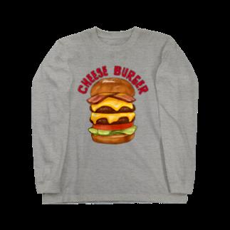 すとろべりーガムFactoryのチーズバーガー Long sleeve T-shirts