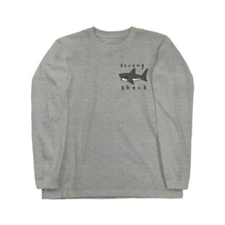 強いサメ Long sleeve T-shirts