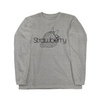 モノクロ・ストロベリー Long sleeve T-shirts