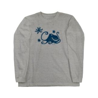 蒼い蛸 Long sleeve T-shirts