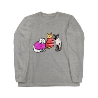 シャム寒 Long sleeve T-shirts