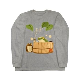 桶湯の蛙 Long sleeve T-shirts