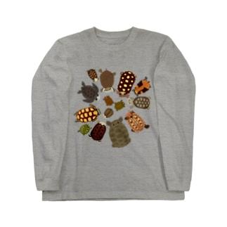 南米の亀 Long sleeve T-shirts