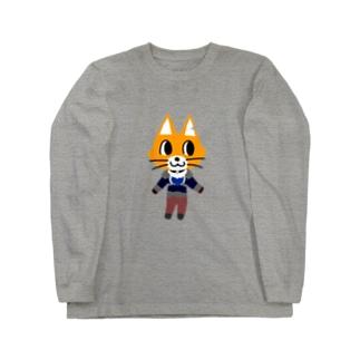キャットCのこうじょうけんがくのあつまれキャットCの森 Long sleeve T-shirts