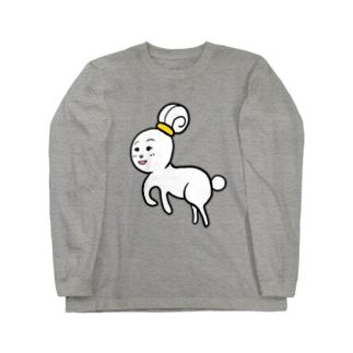 輪っかでおだんごうさぎちゃん Long sleeve T-shirts