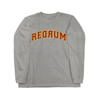 REDRUM 灰×ボルドー Long sleeve T-shirts