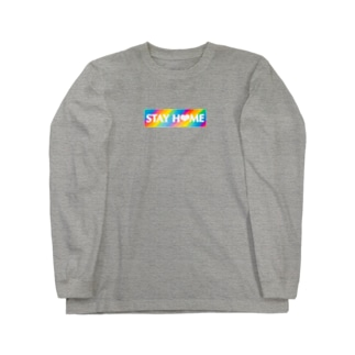 STAY H❤︎ME レインボーボックス Long sleeve T-shirts