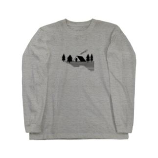 キャンプ2 ブラック Long sleeve T-shirts