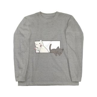 とびだす猫 Long sleeve T-shirts