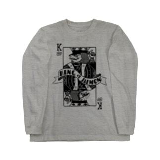 キングサーモン Long sleeve T-shirts